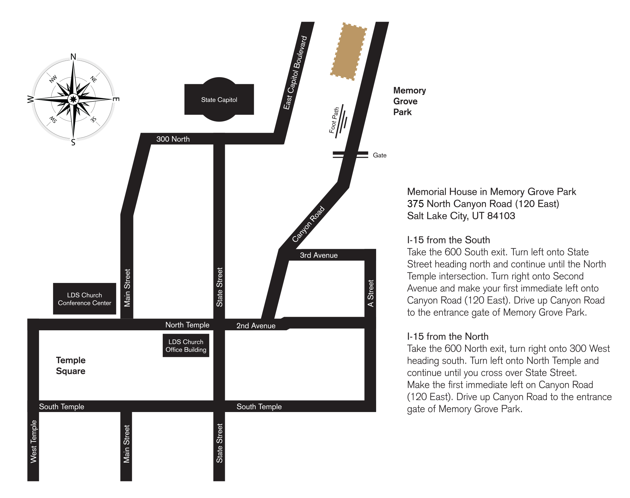 Directional Map to Memorial House image