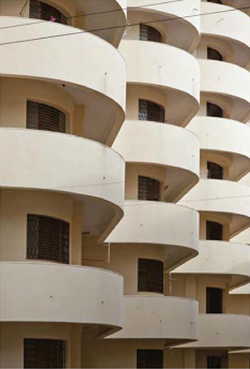 white round balcony